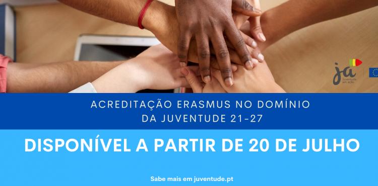 Acreditação Erasmus no domínio da juventude: 2021 - 27